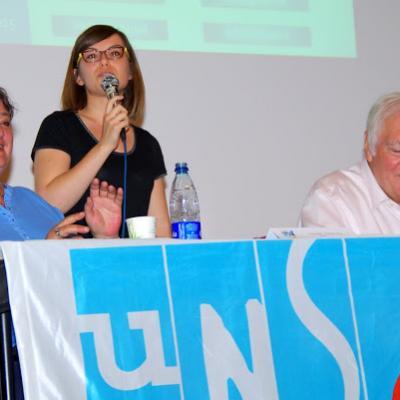 Cloé Bourguignon présente l'UNSA Jeunes